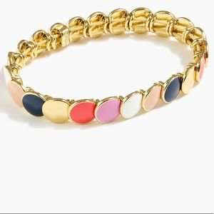 J.Crew Gold Enamel Bracelet